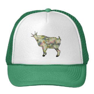 Colourful funny goat design cap