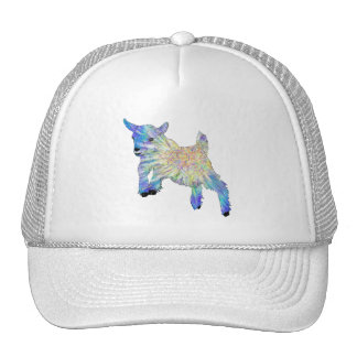 colourful funny goat jumping cap
