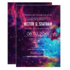Colourful Galaxy Bar Mitzvah Party Invite