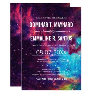 Colourful Galaxy Wedding Invitation