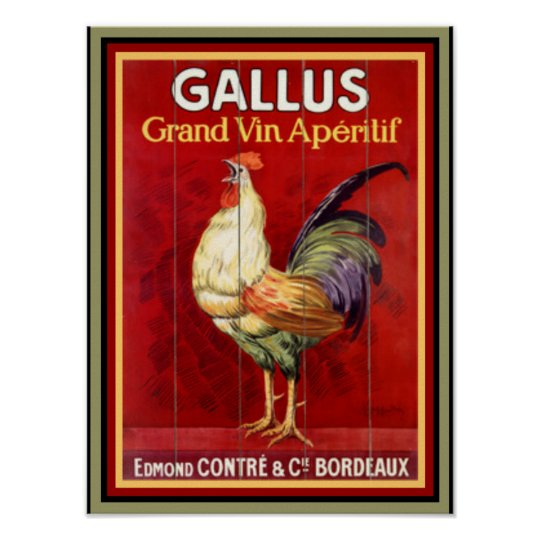 Colourful Gallus  Vintage Ad Poster 12 x 16