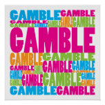 Colourful Gamble Poster