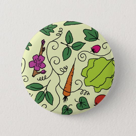 Colourful Garden 6 Cm Round Badge