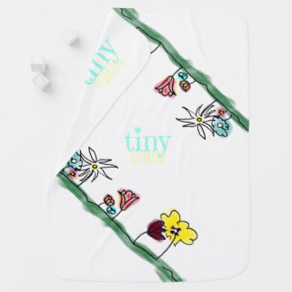 Colourful Garden Baby Blanket