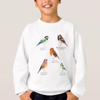 Colourful garden birds sweatshirt