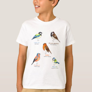 Colourful garden birds T-Shirt