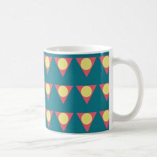 Colourful geometric design mug