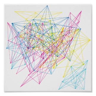 colourful geometric design poster