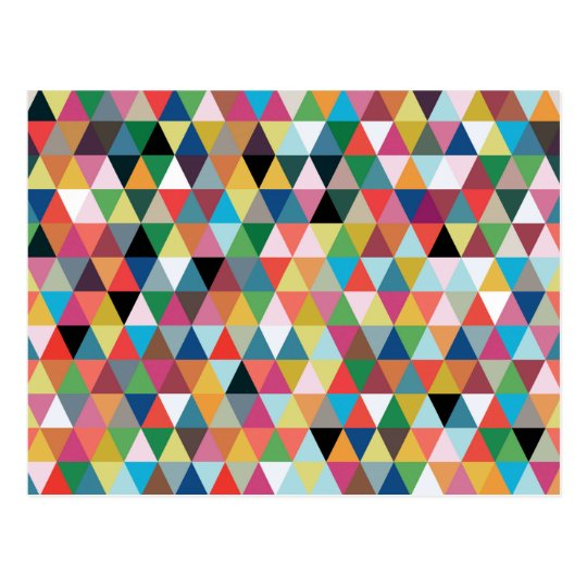 Colourful Geometric Kaleidoscope Pattern Postcard