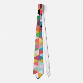 Colourful Geometric Kaleidoscope Patterned Tie