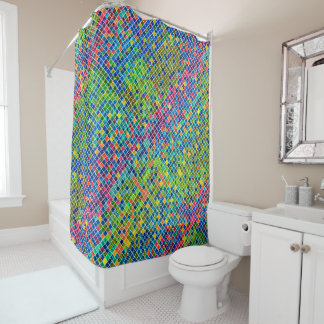Colourful Geometric Mosaic Pattern 3 Shower Curtain