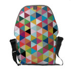 Colourful Geometric Patterned Messenger Bag