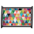 Colourful Geometric Patterned Serving Tray