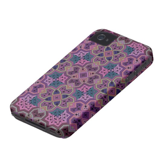 Colourful Geometric ~ Purple iPhone 4 Cases