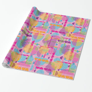 Colourful geometric shapes gift wrap