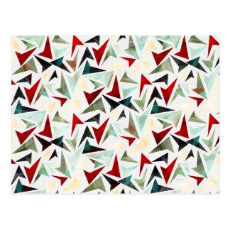 Colourful Geometric Shapes Pattern Postcard