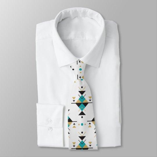 Colourful Geometric Southwestern Tribal Pattern Tie