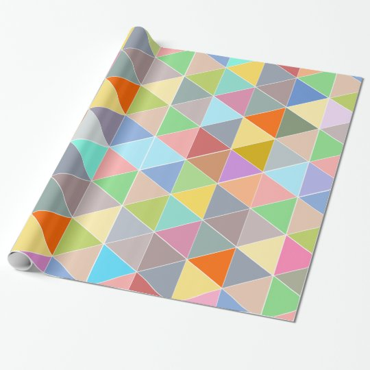 Colourful geometric traingle pattern wrapping wrapping paper