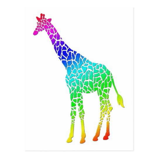 Colourful Giraffe Postcard