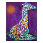 Colourful Giraffe Poster