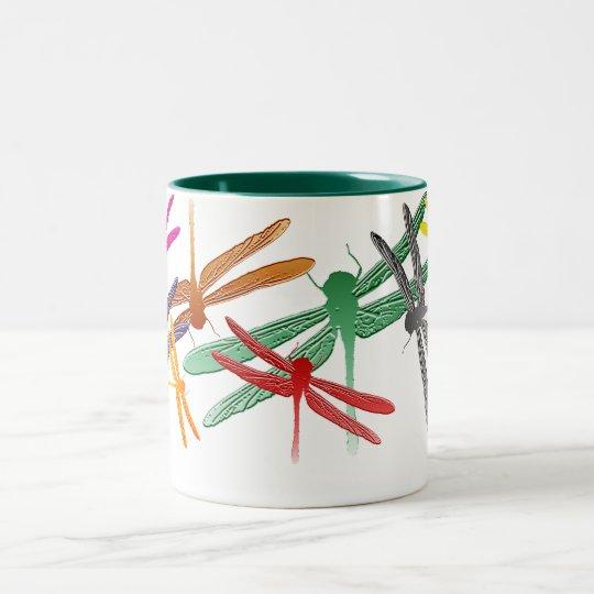 Colourful Glide Dragonfly mug