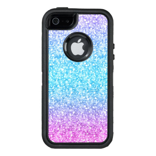 Colourful Glitter Texture Print Blue Pink & Purple