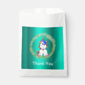 Colourful Glitter Unicorn Birthday Favour Bags