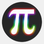 Colourful Glowing Pi - math sticker