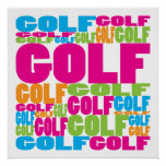 Colourful Golf Poster