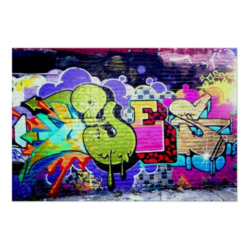 Colourful Graffiti Art Poster