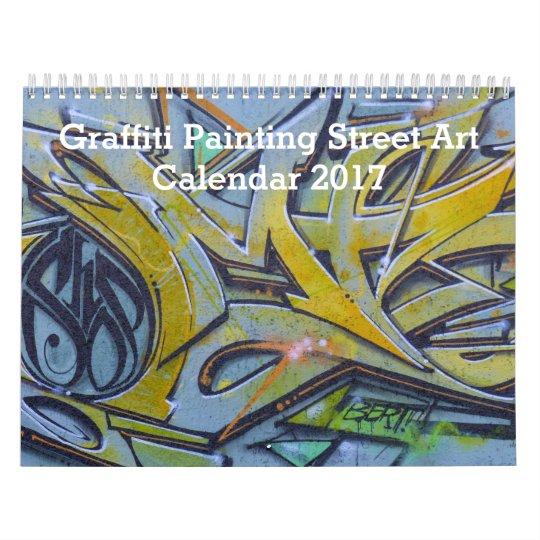 Colourful Graffiti Painting Street Art 2017 Wall Calendars