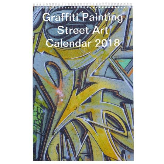 Colourful Graffiti Painting Street Art 2018 Calendars