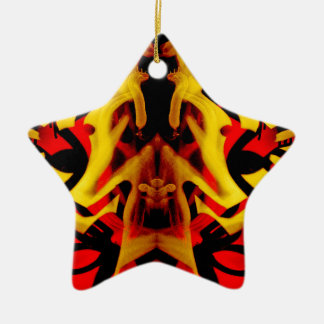 Colourful graffiti pattern christmas ornament