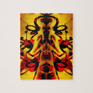 Colourful graffiti pattern jigsaw puzzle
