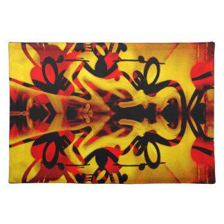 Colourful graffiti pattern placemat