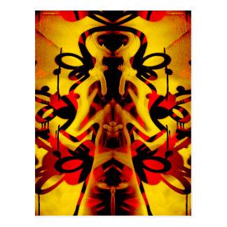 Colourful graffiti pattern postcard
