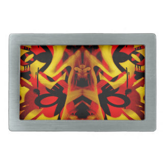 Colourful graffiti pattern rectangular belt buckle