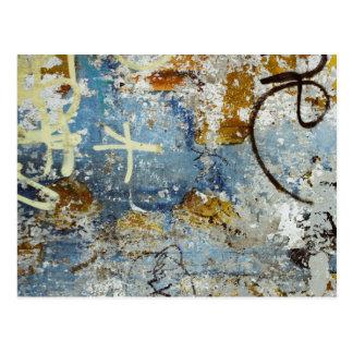 Colourful graffiti texture postcard