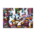 Colourful Graffiti Words Gallery Wrap Canvas