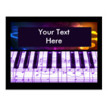 Colourful Grand Piano Keyboard and Music Notes