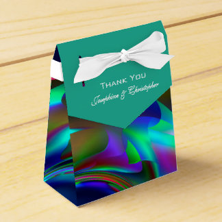 Colourful Green and Blue Pattern Favour Box