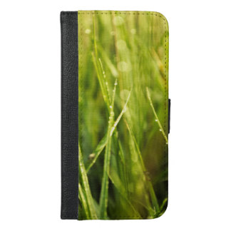 colourful green natural outdoor abstract design iPhone 6/6s plus wallet case