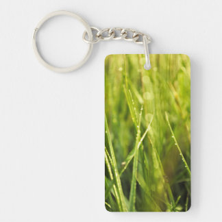 colourful green natural outdoor abstract design key ring