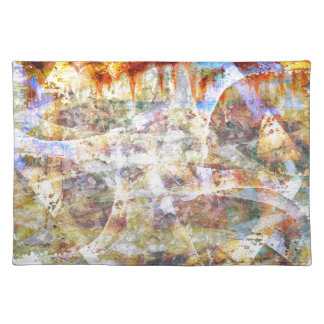 Colourful grunge graffiti placemat
