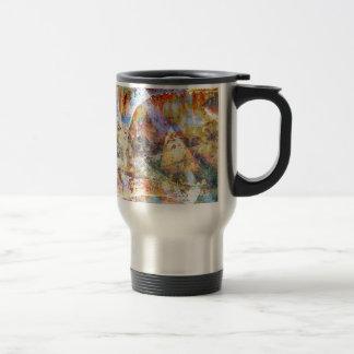 Colourful grunge graffiti travel mug