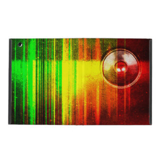 Colourful grunge music speaker iPad cover