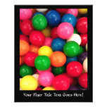 Colourful Gum Ball Candy Personalized Flyer
