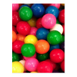 Colourful Gum Ball Candy Postcards
