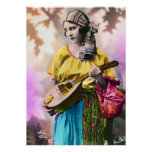 """Colourful Gypsy Girl 20"""" x 28"""" Poster"""
