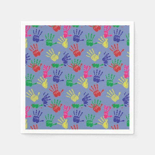 Colourful hand printed ,Paper Napkin . Paper Serviettes